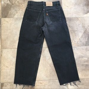 VTG Levi's High Rise Cropped Wide Leg Jeans 29